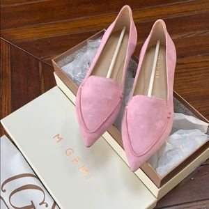 M. Gemi, Italian suede pointed toe flats, pink, 37